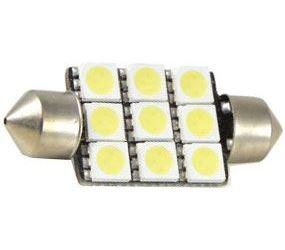 Žárovka LED SV8,5-8 sufit 36mm 12V bílá, 9xSMD5050