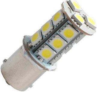 Žárovka LED BaY15D 12V / 3W bílá brzd/obrys., 18xSMD5050