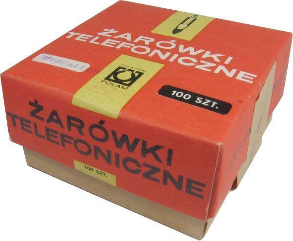 žárovka telefonní 24V/20mA T5,5 POLAM, balení 100ks