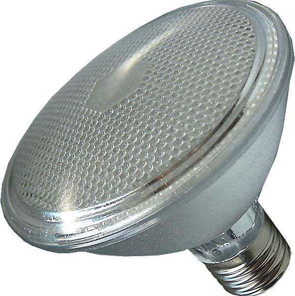 Žárovka LED E20 PAR95, 100xLED, bílá ,230V/5W