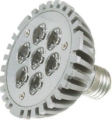 Žárovka LED E27 PAR30-7x1W,bílá teplá,230V, DOPRODEJ