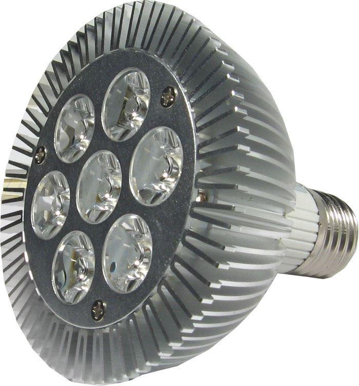 Žárovka LED E27 PAR30 Xenium-7x1W,bílá teplá,230V, DOPRODEJ