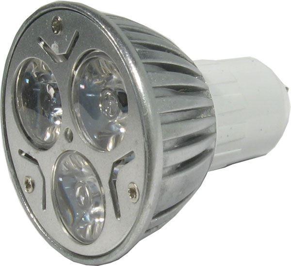 Žárovka LED MR16-3x1W,bílá, 12V/3W