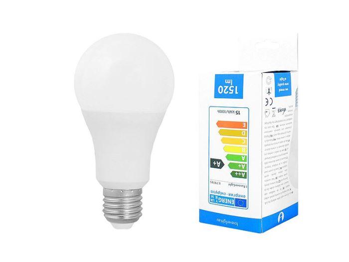 Žárovka LED A60 E27 hrušková 230V/15W, bílá
