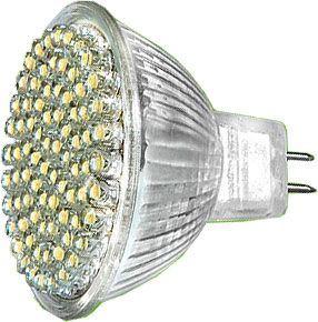 Žárovka LED MR16-48x,bílá teplá,12V,patice GX5,3, DOPRODEJ