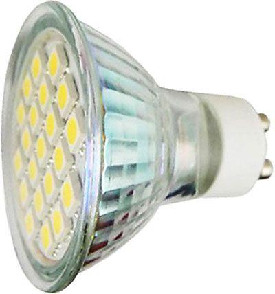 Žárovka LED GU10-24xSMD5050,teplá bílá,230/4,5W, DOPRODEJ