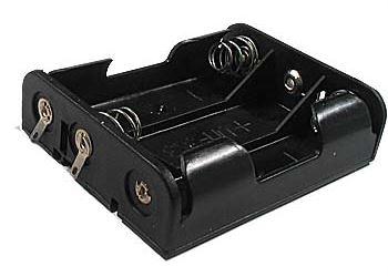 Držák baterie 3xR6/AA/UM3 s pájecími očky