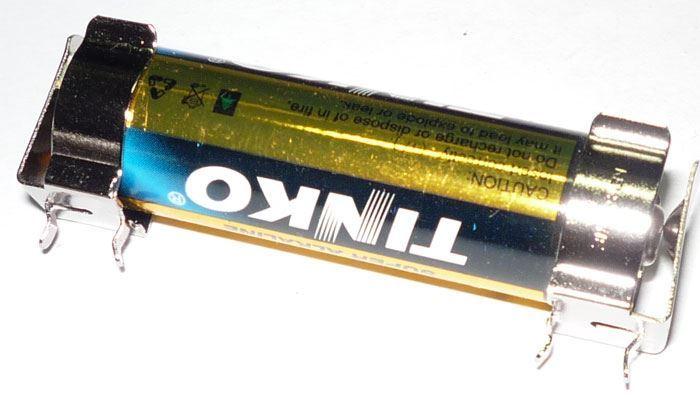 Držák baterie 1xR6/AA/UM3 do DPS