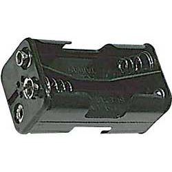 Držák baterie 4xR6/AA/UM3 s klipsem nad sebou