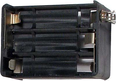 Držák baterie 6xR6/AA/UM3 s klipsem Ruský