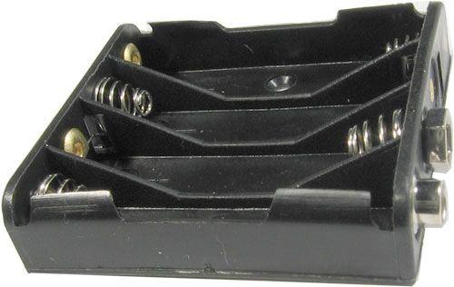 Držák baterie 4xR03/AAA s klipsem