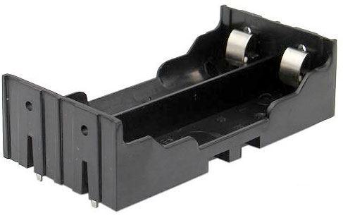 Držák baterie 2x 18650 do plošného spoje