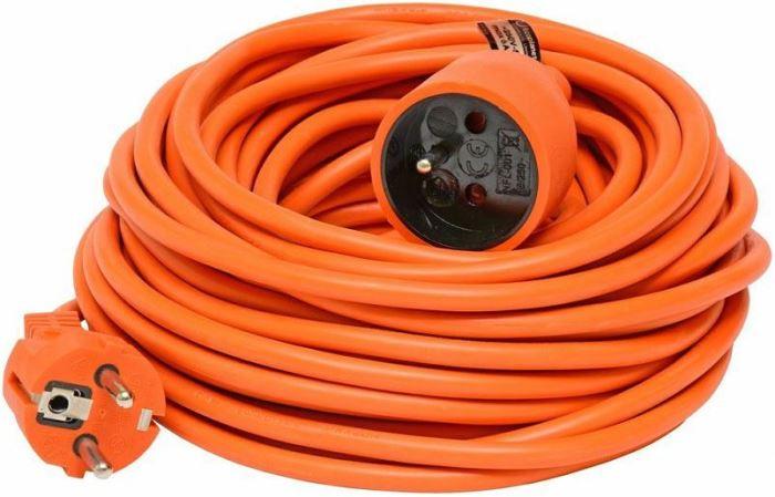 Prodlužovací přívod 20m-spojka,3x1mm2,6A,oranžová