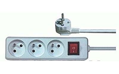 Prodlužovací přívod 5m-3x10A+vypínač,3x1mm2