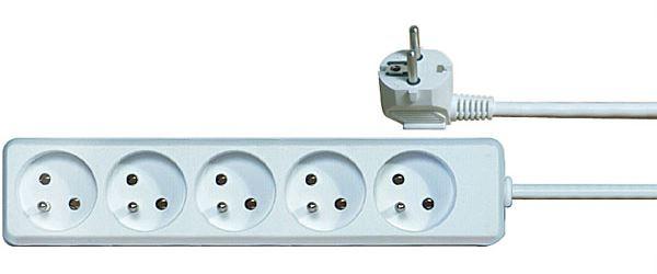 Prodlužovací přívod 5m-5x10A,3x1mm2