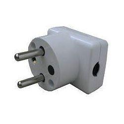 Vidlice 230V/16A bílá, boční vývod-volitelný směr