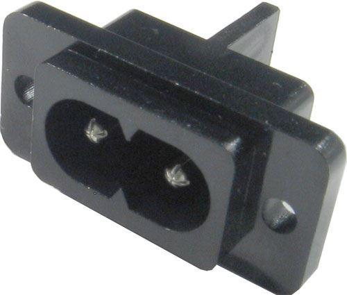Zdířka AC 250V 2pólová na panel