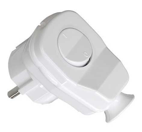 Vidlice 230V úhlová s vypínačem