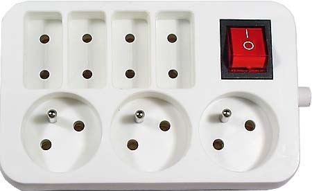 Zásuvkové pole 3x zásuvka 3pol+4x zásuvka 2pol+vyp