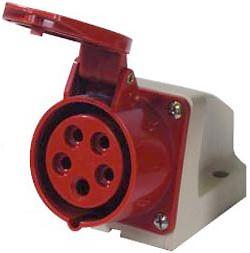 Zásuvka na panel 230/400V/16A 5kolík