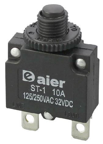 Nadproudový tepelný jistič ST-1 250VAC nebo 32VDC/10A