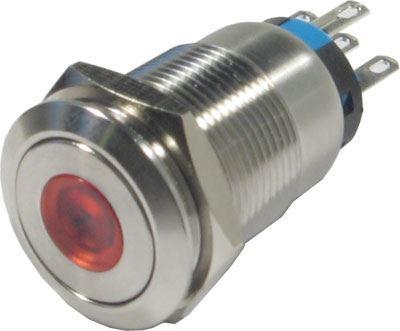 Tlačítko OFF-(ON) LAS1-19F 250V/5A, červené prosvětlení