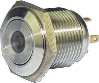 Tlačítko OFF-(ON) GQ16F-10DM 250V/3A, bílé prosvětlení 12V