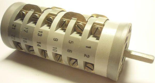 Vačkový spínač VS10 2652 A6, 10A/380V~, 6 poloh 60° bez dorazu