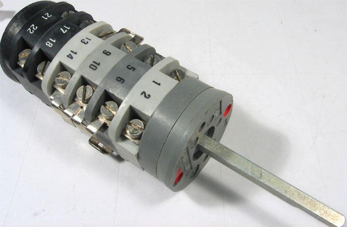 Vačkový spínač VS16 8003 B1, 16A/380V~, 10 poloh 270°