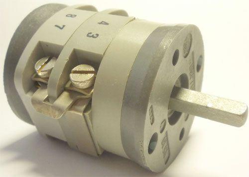 Vačkový spínač VS16 2301 A4, 16A/380V~, 4 polohy 90° bez dorazu