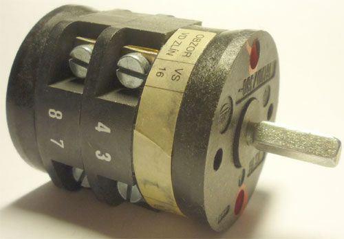Vačkový spínač VS16 1252 D4, 16A/380V~, 2 polohy 90°