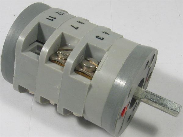 Vačkový spínač VS16 3011 C8, 16A/400V~, 4 polohy 45°