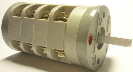Vačkový spínač VS16 1452 A8, 16A/380V~, 4 polohy 45°
