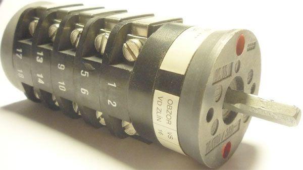 Vačkový spínač VS16 2255 D4, 16A/380V~, 2 polohy 90°