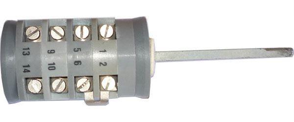 Vačkový spínač VS16 6007 A1, 16A/380V~, 7 poloh 30°