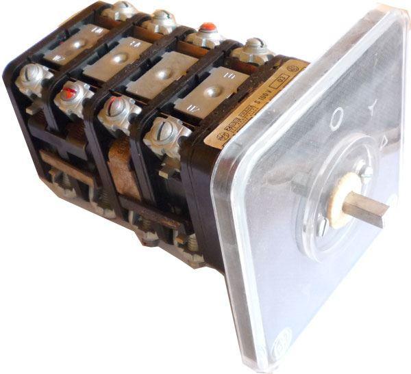 Vačkový spínač S100 V03, 100A/500V~, 0-Y-D, 3 polohy