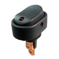Vypínač kolébkový ON-OFF 1pol.12V/20A, červená LED