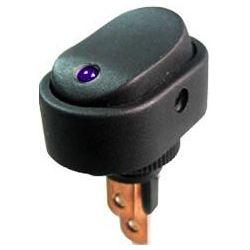 Vypínač kolébkový ON-OFF 1pol.12V/20A, modrá LED