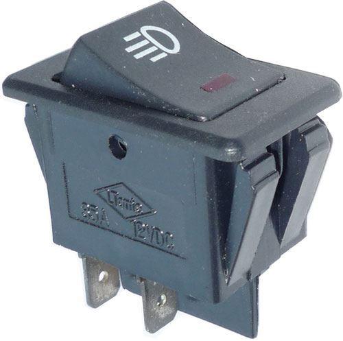 Vypínač kolébkový ON-OFF ASW-17D 2pol.12V/35A, prosvětlení 12V
