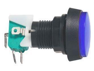 Tlačítko ON-(ON) 1p.250V/10A s mikrospínačem červ.