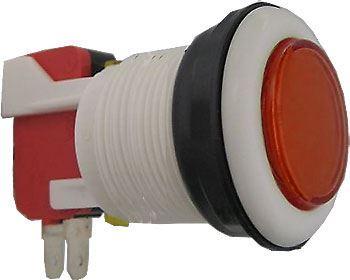 Tlačítko ON-(ON) 1p.250V/10A s mikrospínačem červené
