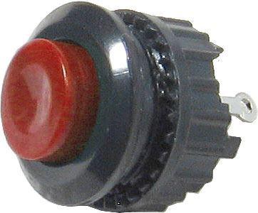 Tlačítko DS-500, OFF-(ON) 125V/1A červené spínací