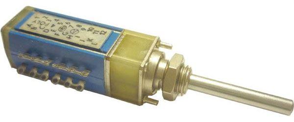 Přepínač otočný TS122 3114/03, 3 polohy, 1paketa, hřídel 3x25mm