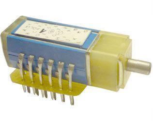 Přepínač otočný TS121 1211/12, 12 poloh, 1paketa, hřídel 3x10mm