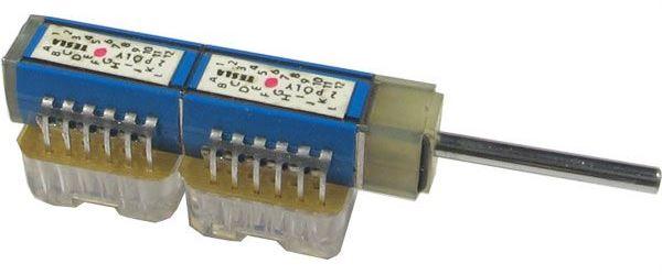 Přepínač otočný TS122 5122/06, 6 poloh, 2pakety, hřídel 3x25mm