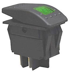 Vypínač kolébkový  RK1-06 ON-OFF 2p.12V/30A zelený