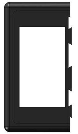 Rámeček pro kolébkový vypínač koncový, PN-BS1