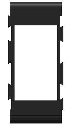 Rámeček pro kolébkový vypínač středový, PN-BS2