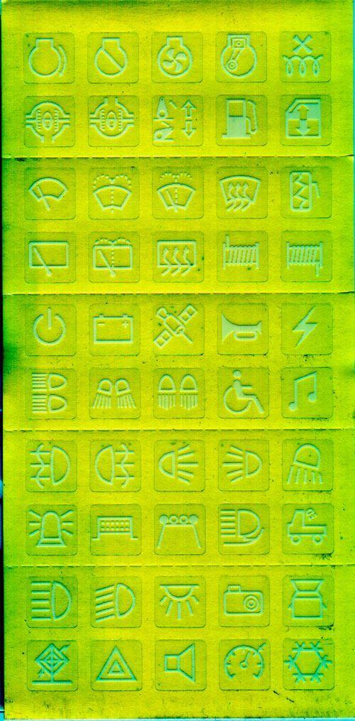 Štítky na vypínače- symboly pro auto