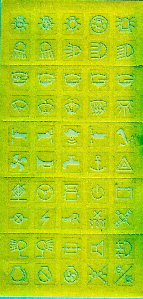 Štítky na vypínače- symboly pro loď